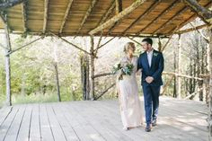 Walking towards forever after their first look at Cedar Treehouse. #cedarwoodweddings Mary Katherine+Matt :: 05.08.16 | Cedarwood Weddings