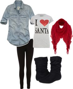"""""""Extremely Casual Christmas"""" by kwood31 on Polyvore"""