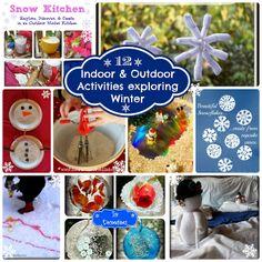 12 Indoor & Outdoor Activities Exploring Winter
