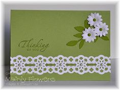 Mainly Flowers Independent Stampin' Up! Demonstrator Joanne Gelnar: Pear Pizzazz and Ribbon Lace Making Greeting Cards, Greeting Cards Handmade, Cute Cards, Diy Cards, Get Well Cards, Card Tags, Card Kit, Sympathy Cards, Paper Cards