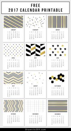 free calendar printable Free Printable Calendars for 2017 - Hongkiat Monthly Planner Printable, Printable Calendar Template, Templates Printable Free, Printable Designs, Free Printables, Calendar 2017, Free Calendar, Kids Calendar, Creative Calendar
