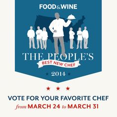 The People's Best New Chef: Vote Today! on Food & Wine - Vote for Carlos Salazar in the Great Lakes region! from Indy!!