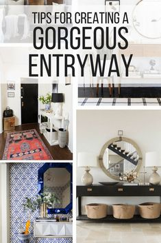 A roundup of great entryway decor ideas - gorgeous DIY entry decor and planning ideas.