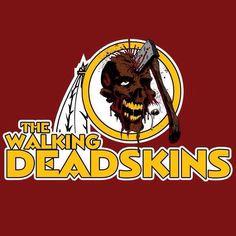 The Walking Deadskins aka Washington Redskins ~ Walking Dead Redskins Meme, Redskins Logo, Redskins Cheerleaders, Redskins Football, Football Team, Dallas Cowboys Memes, Dallas Cowboys Football, Football Memes, Baseball