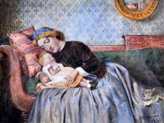A Young Woman Resting With Her Child