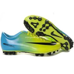 Cool Nike Mercurial Vapor IX AG Green Black Blue Kid Soccer Cleat