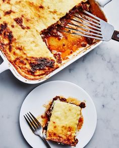 "304 Likes, 11 Comments - @bonappetitmag on Instagram: ""When you need extreme comfort, make this moussaka. Because nothing says ""I'm here for you"" like…"""