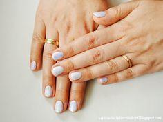 Confessions of a Polishaholic: Semilac 127 violet cream + siren effect