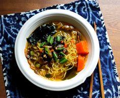 Vegan Soup Recipes: Korean Ramen Noodle Soup