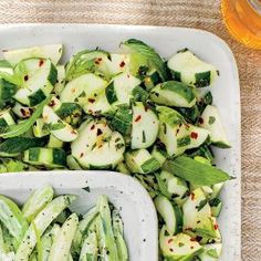 Cucumbers with Ginger, Rice Vinegar, and Mint | MyRecipes.com