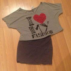 EUC Lot of 2 dolman top + grey Bodycon skirt EXCELLENT CONDITION grey dolman shirt Medium and Grey Skirt Medium Tops