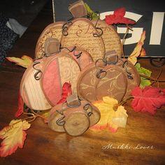 wooden pumpkins...