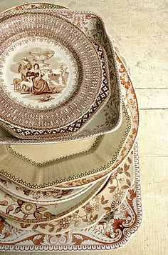 Brown transferware - I am starting my collection now :)