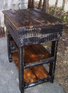 Rustic Microwave Stand Pallets And Reclaimed Wood