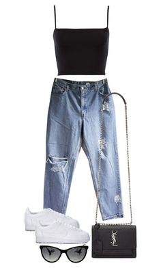 """Untitled #4399"" by theeuropeancloset on Polyvore featuring Levi's, NIKE, Yves Saint Laurent and Chanel"