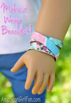 Doll Craft: How To Make A Duck Tape Wrap Bracelet! | AmericanGirlFan | Bloglovin'