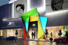 hotel entrance design by Milan Sipek