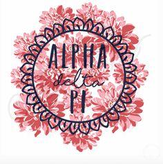 Alpha Delta Pi | ADPi | Floral Design | South by Sea | Greek Tee Shirts | Greek…