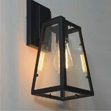 Vintage Retro Industrial Iron Wall Lamp Shades Luminaires Ceiling Light Lighting