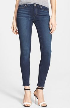 Paige Denim fits like a dream! Paige Denim 'Transcend - Verdugo' Ankle Skinny Jeans (Nottingham) available at #Nordstrom