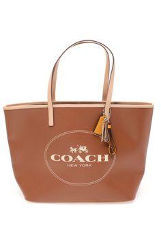 #Coach Metro Horse and Carriage Tote - Saddle  #Handbags