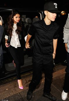 Selena - love the jacket & button-down with leggings