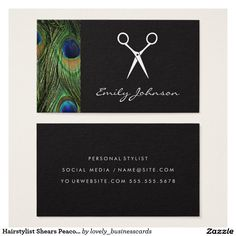 Hairstylist Shears Peacock Print Business Card #hairstylist #shears #haircare #beautician #beautysalon #hairdresser #cosmetologist #scissors #peacockpattern #peacock #hairstylistlife #hairdresserlife #personalstylist #fashionstudy #boutiqueowners #chic #comb #barber #woman #luxe #contemporary #modern #haircut #barbershopconnect #expressive #salon #personalstylist #professional #trendy #cool #sleek #designer #hairstylistproblems #fancy #elegant #feathers #bird #animalprint