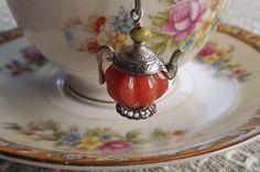 Charmed Pumpkin Tea Pot Tea Ball Tea Strainer by SunshineCottage