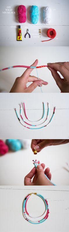 Jag fick en idé om att jag skulle göra ett halsband i samma stil som ni vet dom där grejerna i håret som alla som åkte på solsemester kom hem med, som jag för övrigt var avundsjuk på. Dels för att ... Necklace Guide, Diy Necklace, Necklaces, Diy Jewelry, Jewlery, Jewelry Accessories, Anna, Bijoux Diy, Diy Crafts