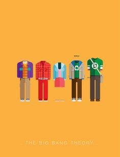 Posters inspirados nos figurinos dos personagens de seriados e filmesZupi