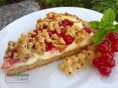 Rybízový koláč s tvarohem Waffles, Food And Drink, Breakfast, Cake, Straws, Morning Coffee, Kuchen, Waffle, Torte