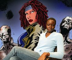 Danai Gurira Is Michonne in The Walking Dead Season 3 - The actress will play the sword-wielding fan favorite character from the comic book when AMC's hit horror series returns in the fall.