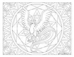Free Printable Pokemon Coloring Page Articuno Visit Our For More Fun All Ages Adults And Children