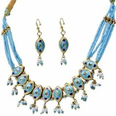 Little India Jaipuri Lacquer Necklace Set
