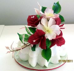 These are not real flowers.  Helen Dissell's sugar craft is amazing.