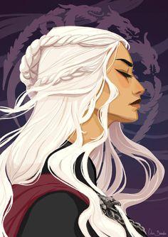 Daenerys Targaryen by Linu-art on DeviantArt <- kinda looks like Manon a little bit Daenerys Targaryen Art, Deanerys Targaryen, Khaleesi, Arya Stark, Fantasy Characters, Female Characters, Character Inspiration, Character Art, Arte Hip Hop