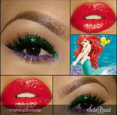 Mermaid hair and makeup ideas | Halloween Costumes Tips ...