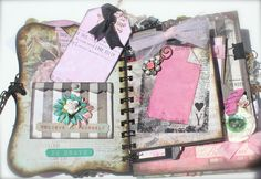 *A Shabby Vintage Girly Girl Mini Album* Mini Scrapbook Albums, Scrapbook Cards, Mini Albums, Scrapbooking, Cool Journals, Paper Crafts, Diy Crafts, Shabby Vintage, Shabby Chic