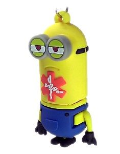 Key2Life USB Medi-Chip Kids Minion Necklace