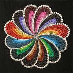Rainbow flower by ARTofMOONWORKSHOP on Etsy
