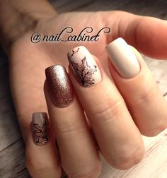 What Christmas manicure to choose for a festive mood - My Nails Love Nails, Pretty Nails, My Nails, Gel Nail Art, Nail Manicure, November Nails, Fall Nail Art Designs, Thanksgiving Nails, Autumn Nails