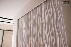 Paneles decorativos  Decorative Panels 3D - Model 27 STREAM  Loft Design System Decorative Wall Panels, Design System, Loft Design, 3d Wall, Wall Decor, Curtains, Interior Design, Model, Home Decor