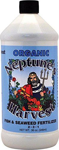 #Neptune's Harvest Organic Fish/Seaweed Blend Fertilizer gives you the best of both products with a perfect blend of fish hydrolysate and seaweed, ensuring a com...