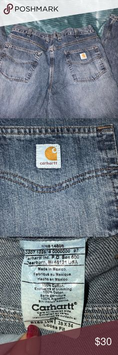 Like New Carhartt Men's Jeans 👖 Like new worm twice  Size 38x34  Loose Fit Carhartt Jeans