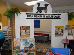 This is a very creative and fun classroom library. Train Theme Classroom, Monopoly Classroom, Monopoly Theme, Classroom Games, Preschool Classroom, Classroom Organization, Classroom Decor, Classroom Management, Monopoly Party