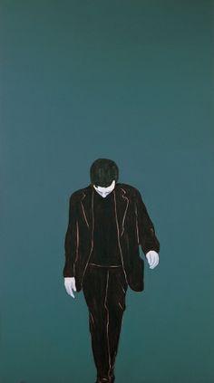 Djamel Tatah, Sans titre 2008 (08002) Huile et cire sur toile ; 290 x 160 cm