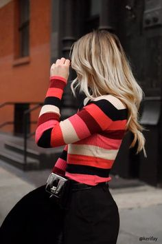 Product Name:Cropped Stripe Sweater, Category:sweater, Price:17.9