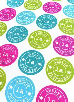 Aufkleber & Etiketten - ★ 24 Schulkind Aufkleber ★ mit Namen - ein Designerstück von Lena-und-Max bei DaWanda