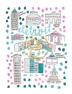 Detroit Map Print | Evelyn Henson