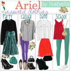 Ariel Inspired Clothing. ♥, created by the-polyvore-tipgirls